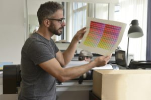 Printing industry: Graphic designer